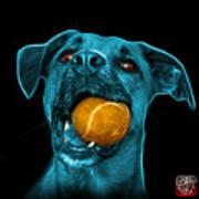 Cyan Boxer Mix Dog Art - 8173 - Bb Poster