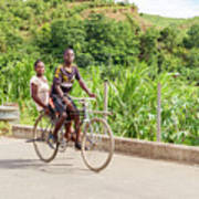 Cycling In Malawi Poster