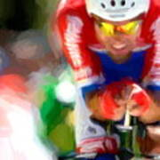Cyclist Three Poster