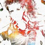 Cyndi Lauper Watercolor Poster