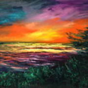 Cypress Sunset Poster