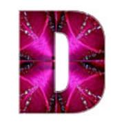 d dd ddd Alpha Art on Shirts alphabets initials   shirts jersey t-shirts v-neck by NavinJoshi Poster