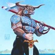 Daedalus Minotaur Of Crete Poster