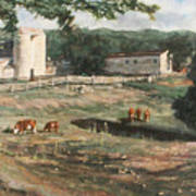 Dairy Farm On Route 34 Poster