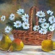 Daisies In Basket Poster
