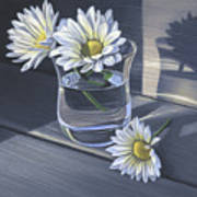 Daisies In Drinking Glass No. 2 Poster