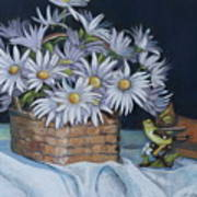 Daisies In Still Life Poster