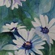 Daisies In The Blue Poster