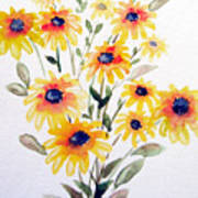 Daisy Bouquet Poster