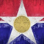 Dallas City Flag Poster