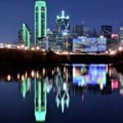 Dallas Dark Blue Night Poster