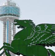 Dallas Pegasus Reunion Tower Green 030518 Poster