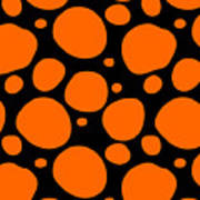 Dalmatian Pattern With A Black Background 03-p0173 Poster