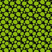Dalmatian Pattern With A Black Background 09-p0173 Poster