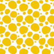 Dalmatian Pattern With A White Background 05-p0173 Poster