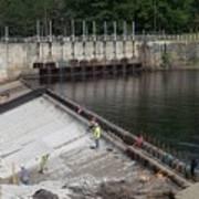 Dam Repairs  Along The Androscoggin River Poster