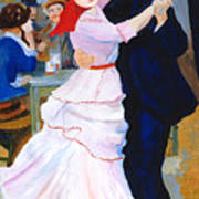 Dance At Bougival After Renoir Poster