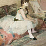 Dancer Seated On A Pink Divan 1884 Poster