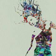 Dancer Watercolor Splash Poster