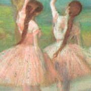 Dancers In Pink Poster by Edgar Degas