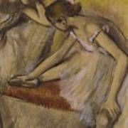 Dancers In Repose Poster by Edgar Degas