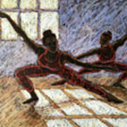 Dancers Near A Window Poster