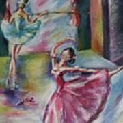 Dancing Ballerinas Poster by Khatuna Buzzell