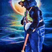 Dancing Bear With Banjo Poster