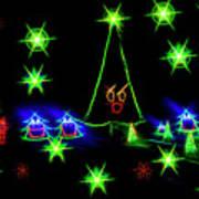 Dancing Christmas Trees Poster