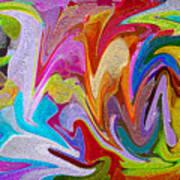 Dancing Colors Poster