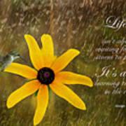 Dancing In The Rain Print Poster