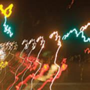 Dancing Light Streaks Poster