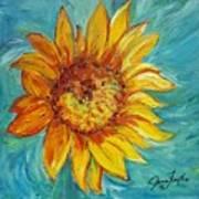 Dancing Sunflower  Poster