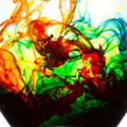 Dancing Water Colors Poster