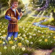 Dandelion - Make A Wish Poster by Anne Wertheim