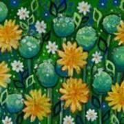 Dandelions In People's Park Poster