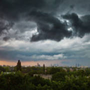 Dangerous Stormy Clouds Over Warsaw Poster