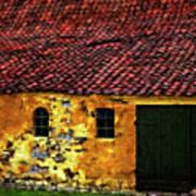 Danish Barn Watercolor Version Poster