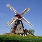 Danish Windmill Poster