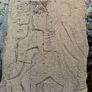 Danzantes Stone Carving Poster
