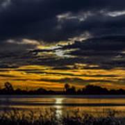 Dark Lake Sunrise Poster