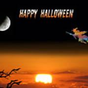 Dark Night Halloween Card Poster