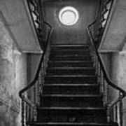 Dark Stairs To Attic - Urban Exploration Poster