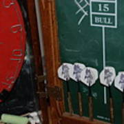 Darts And Board Poster