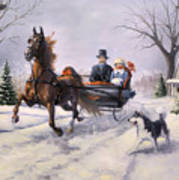 Dashing Through The Snow  II Poster by Jeanne Newton Schoborg