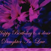 Daughter-in-law Birthday Card        Chrysanthemum Poster