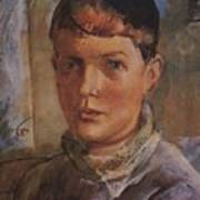 Daughter Of The Artist 1933 Kuzma Sergeevich Petrov-vodkin Poster
