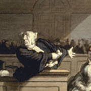 Daumier: Advocate, 1860 Poster