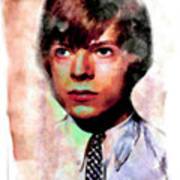David Bowie Teenager Aquarelle  Poster