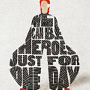 David Bowie Typography Art Poster